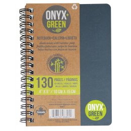 A6 Bamboo Paper Notebook - 65 Ruled Sheets - Assorted Colours