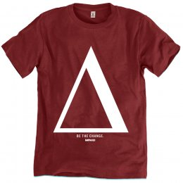 Rapanui Organic Cotton Men's Be The Change T-shirt - Red Wine test