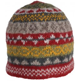 Finsterre Knitted Beanie Hat - Rust test