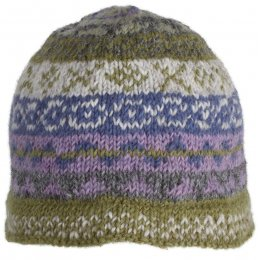 Finsterre Knitted Beanie Hat - Olive test
