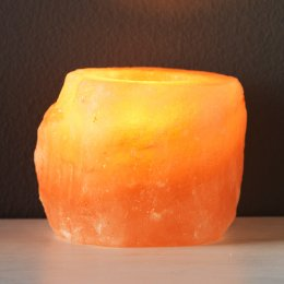 Natural Salt Tea Light Candle Holder