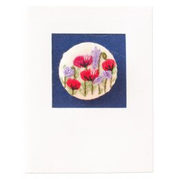 Traidcraft Embroidered Brooch Gift Card