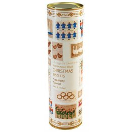 Farmhouse 12 Days of Christmas Biscuit Tube - Cranberry Crunch - 300g