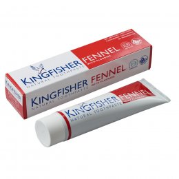 Kingfisher Toothpaste with Fluoride - Fennel - 100ml