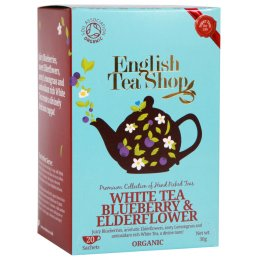 English Tea Shop Organic Blueberry & Elderflower Super White Tea - 20 Bags - Sachets
