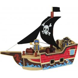 Pirate Ship Wooden Toy Set