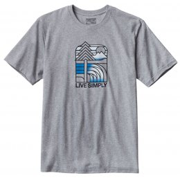 Patagonia Mens Live Simply Landscape T-Shirt