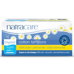 Natracare Organic Cotton Tampons with Applicator - Super - 16 test