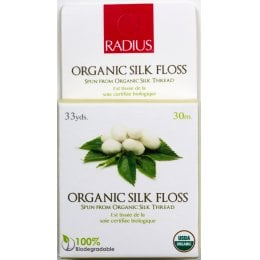 Radius Natural Biodegradable Silk Dental Floss - 30 Metres