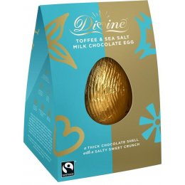 Divine Toffee & Sea Salt Milk Chocolate Easter Egg - 100g