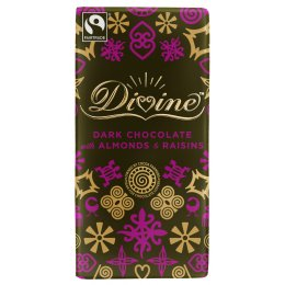 Divine Dark Chocolate with Almonds & Raisins - 100g