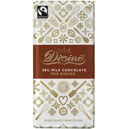 Divine Milk Chocolate Bar For Baking - 200g