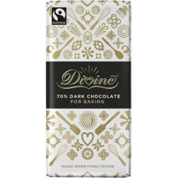 Divine Dark Chocolate Bar For Baking - 200g