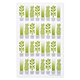 Jangneus Design Herbs Tea Towel - Green