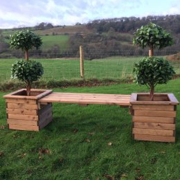 Outdoor Planter Bench