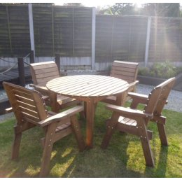 Four Seater Outdoor Circular Table Set