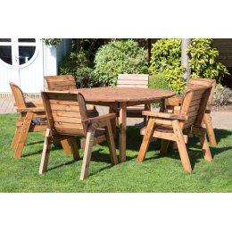 Six Seater Outdoor Circular Table Set