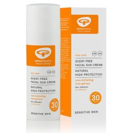 Green People Scent Free Facial Sun Cream - SPF30 - 50ml