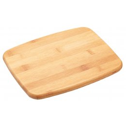 Kitchen Craft Small Bamboo Chopping Board with Cork Trivet - 25 x 20cm