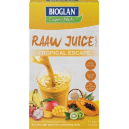 BioGlan Superfoods Raaw Juice - Tropical - 7x7g Sachets