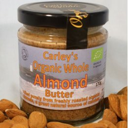 Carleys Organic Whole Almond Butter - 170g