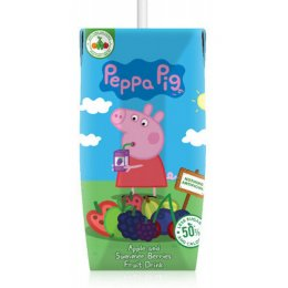 Appy Drinks Peppa Pig Apple & Summer Berries Natural Juice Drink - 3 x 200ml