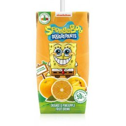 Appy Drinks Spongebob Orange & Pineapple Natural Juice Drink - 3 x 200ml