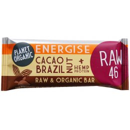 Planet Organic Cacao Brazil Nut Energise Protein Bar 30g