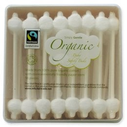 Simply Gentle Organic Cotton Baby Safety Buds - Pack of 56