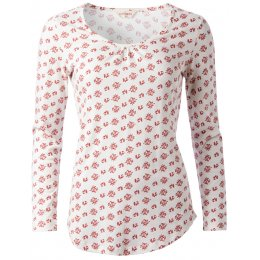 Nomads Organic Long Sleeve PJ Top - Floral Print