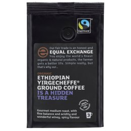 Equal Exchange Ethiopian Yirgecheffe Roast & Ground Coffee 227g
