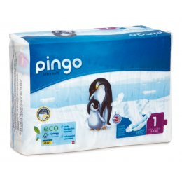 Pingo Ecological Disposable Nappies - Newborn - Size 1 - Pack of 27