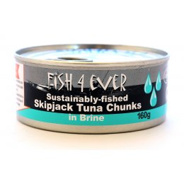 Fish 4 Ever Skipjack Tuna Chunks In Brine - 160g