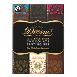 Divine Chocolate 12 Bar Tasting Set - 180g