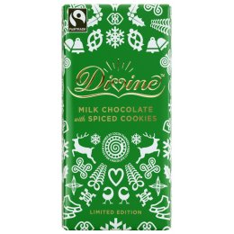 Limited Edition Milk Chocolate with Spiced Cookies - 100g