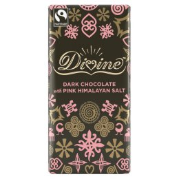 Divine Dark Chocolate with Pink Himalayan Salt - 100g
