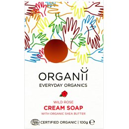 Organii Organic Cream Soap Bar - Wild Rose - 100g