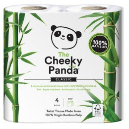 The Cheeky Panda FSC Bamboo Toilet Tissue - 4 Rolls