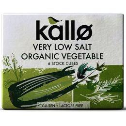 Kallo Low Salt Vegetable Stock Cubes 66G