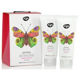 Green People Organic Body Care Butterfly Conservation Gift Set - Joyful - 200ml