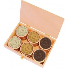 Dreimeister Chocolate Coins For Coffee - 12 - 96g