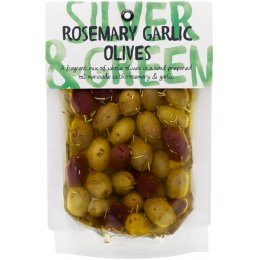 Silver & Green Rosemary Garlic Olives - 220g