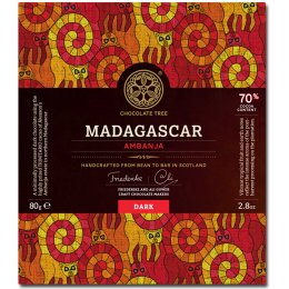 Chocolate Tree From Bean to Bar - Dark - Madagascar 70 percent  - 80g
