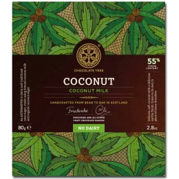 Chocolate Tree From Bean to Bar - Coconut 55 percent  - 80g