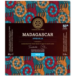 Chocolate Tree Bean to Bar - Madagascan Milk Chocolate 50 percent  - 80g