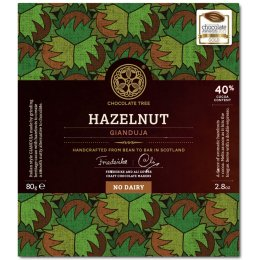 Chocolate Tree - Hazelnut Gianduja 40 percent  Dairy Free Milk Chocolate - 80g