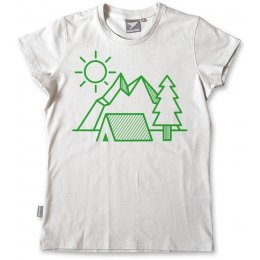 Silverstick Organic Cotton Womens Camping T-Shirt - White