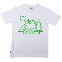Silverstick Organic Cotton Mens Camping T-Shirt - White