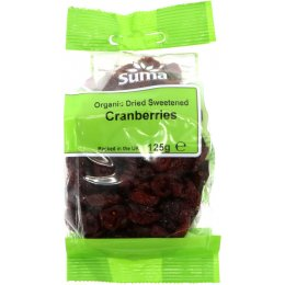 Suma Prepacks Organic Cranberries 125g