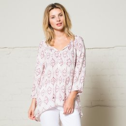 Nomads Ikat Loose Shirt - Blush
